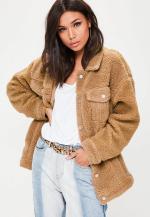 veste-marron-oversize-faux-mouton